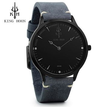 KINGHOON Mens Watches Brand Luxury Ultra Slim Quartz Watch Men 2017 Business Leather Band Relogio Masculino Fashion wristwatches