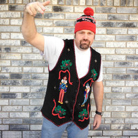 Nutcrackers Tacky Ugly Christmas Sweater Vest
