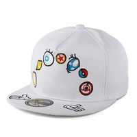 Embroidery Colorful Baseball Cap Multi-color Hip-hop Hats [4917647108]