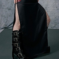 Nemesis Skirt in Red - cyber industrial goth alt fashion by FUTURSTATE