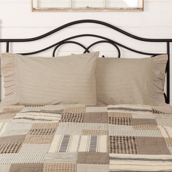 Owens Mill Ticking Stripe Pillow Cases
