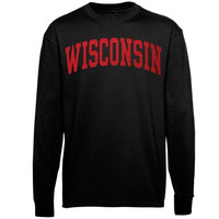 Wisconsin Badgers Vertical Arch Long Sleeve T-Shirt – Black