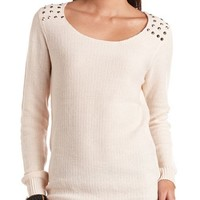 STUD SHOULDER SWEATER TUNIC
