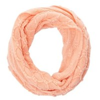 Geo-Knit Infinity Scarf by Charlotte Russe