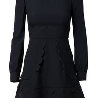 Red Valentino Scalloped Flared Dress - Russo Capri - Farfetch.com