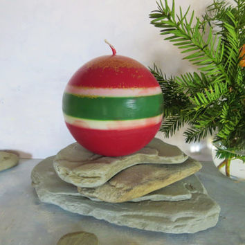 Christmas big ball soy candle, long lasting earth friendly Christmas candle, Christmas eco friendly sphere candle