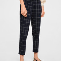 Drawstring flowy trousers - Women | MANGO USA