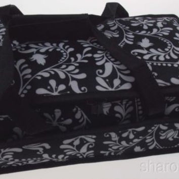 Black White 13 x 8 Rectangle Casserole Food Dish Insulated Travel Carry Bag Tote