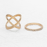 Crisscross Midi Ring Set