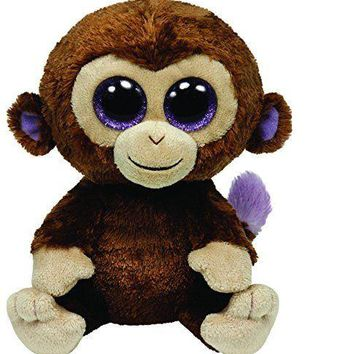 "NEW Coconut The Monkey 6"" Plush Beanie Boos Toy Doll TY"