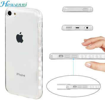"Howanni Soft Protector Transparent Case For Apple iPhone 5C Case Silicone 4.0"" Back Cover For iPhone 5C Cover Phone Shell Capa"
