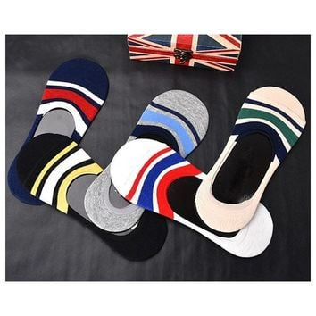 3Pair Men's Colorful Sock Slippers Non-slip Invisible Socks Short Boat Socks Spring Summer Fashion Male Ankle Socks Calcetines