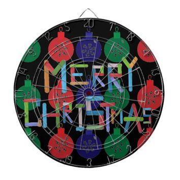 Merry Christmas Dartboard With Darts