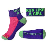 Yakety Yak! Running Socks - Run Like A Girl