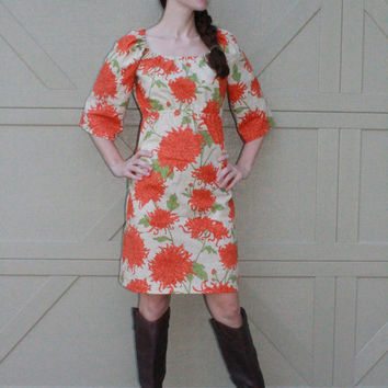 Fall Mums Peasant Dress xs s m l xl xxl xxxl