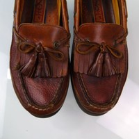 Sperry Top Sider 0673418 Tremont Boat Deck Kiltie Tassel Leather Loafers Size 8