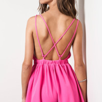 J'adore Cross Back Romper (more colors)