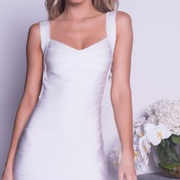 MARCY BANDAGE DRESS IN WHITE
