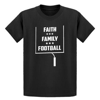 Youth Faith Family Football Kids T-shirt