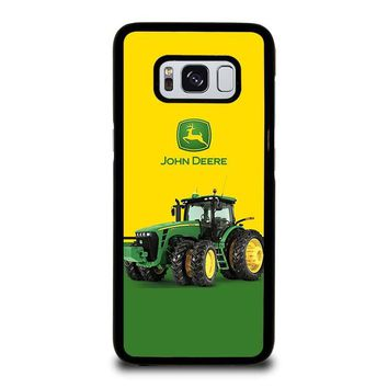 JOHN DEERE WITH TRACTOR Samsung Galaxy S3 S4 S5 S6 S7 Edge S8 Plus, Note 3 4 5 8 Case Cover