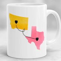 Long Distance Mug, State to State Mug, Custom Long Distance Mug, Mother Mug, Mother's Day Gift, Gift for Mom, Birthday Gift for Mom
