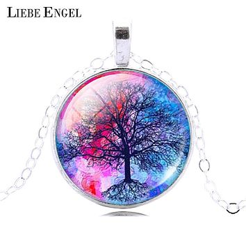 LIEBE ENGEL Fashion Life Tree Pendant Necklace