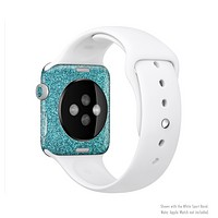 The Teal Glitter Ultra Metallic Full-Body Skin Set for the Apple Watch