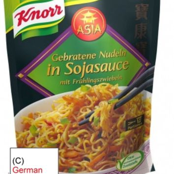Knorr Asia Fried Noodles in Soy Sauce with Spring Onions