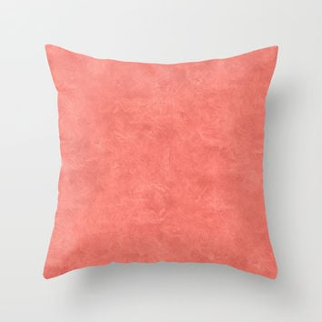 Coral Reef Oil Pastel Color Accent Throw Pillow by Sara Valor