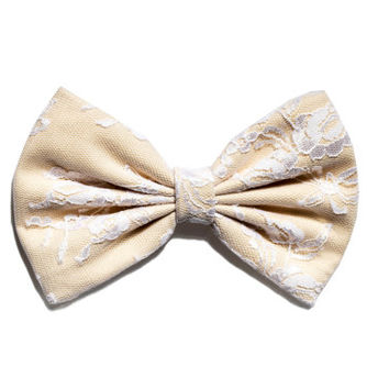 Ivory Lace Hair Bow