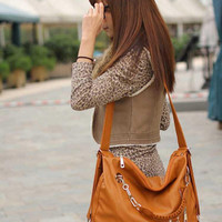 Women Fashion Style PU Leather Hobo Purses Shoulder Bags Handbag Lady Backpack