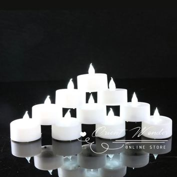 (36pcs/lot) Led Candles White Electronic Flameless Tealight Decorative Candle for Wedding Birthday Party Decoration Bougie Led