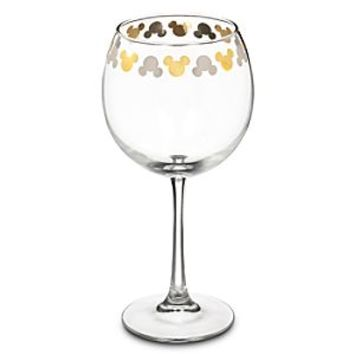 Mickey Mouse Icon Goblet Wine Glass   Disney Store