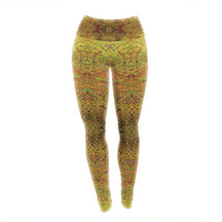 "Nikposium ""Goldenrod"" Gold Yellow Yoga Leggings"