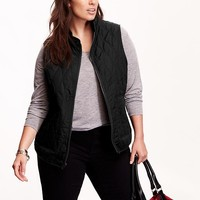 Old Navy Womens Plus Quilted Zip Vest