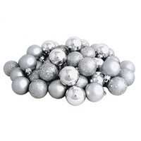 96ct Shatterproof Silver Splendor 4-Finish Christmas Ball Ornaments 1.5 (40mm) 31752973 | ChristmasCentral