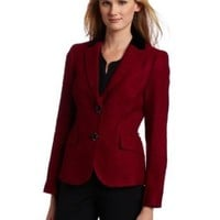 AK Anne Klein Women`s Tonal Tweed Blazer $179.00
