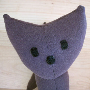 Cat Plush Recycled Purple- Sally
