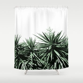 Yucca Shower Curtain by ARTbyJWP
