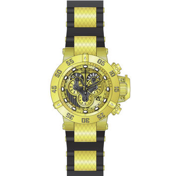 Invicta 18520 Men's Subaqua Noma III Gold Dial Steel & Silicone Strap Chrono Dive Watch