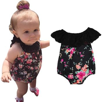 Baby girl romper Toddler Infant Baby Girl Floral Lace baby Romper Jumpsuit Outfits Clothes drop shipping