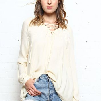 BB Dakota Boothe Lace Up Top