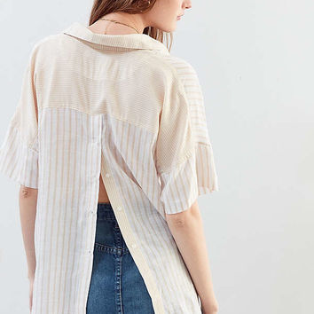 BDG Mixed Striped Popover Collared Top | Urban Outfitters