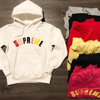 """Supreme"" Unisex Casual Top Sweater Pullover Hoodie"