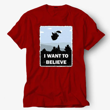 I want to believe shirt , Hot product on USA, Funny Shirt, Colour Black White Gray Blue Red