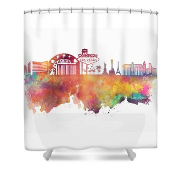 Las Vegas skyline Shower Curtain