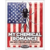 My Chemical Romance Concert Promo Poster - My Chemical Romance - Artists/Groups Rockabilia Music Merchandise