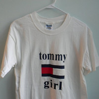 rare 90s tommy hilfiger usa t shirt -- tommy girl shirt
