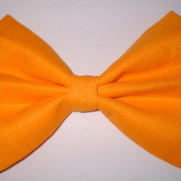 Orange Arrow Print Fabric Hair Bow Hair Accessory Hair Clip Hairbow