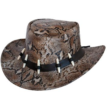 Walkabout Python Genuine Leather Outback Hat